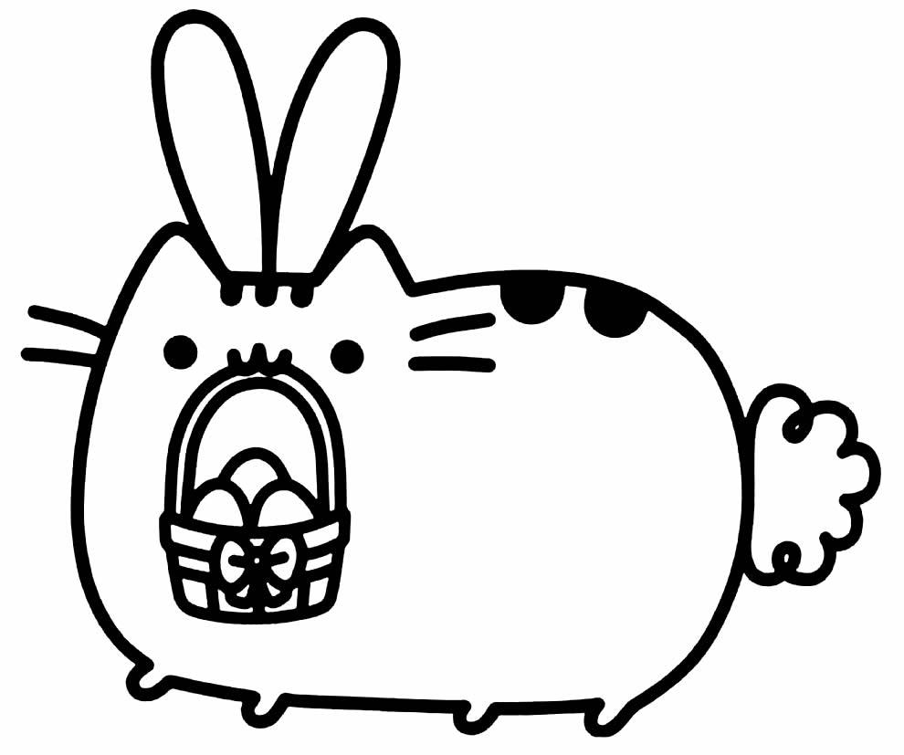 Desenho de Kawaii para colorir