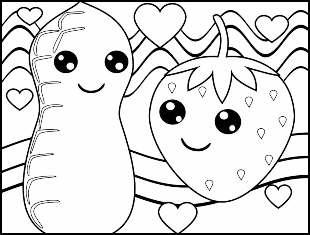 30 desenhos de Kawaii para colorir