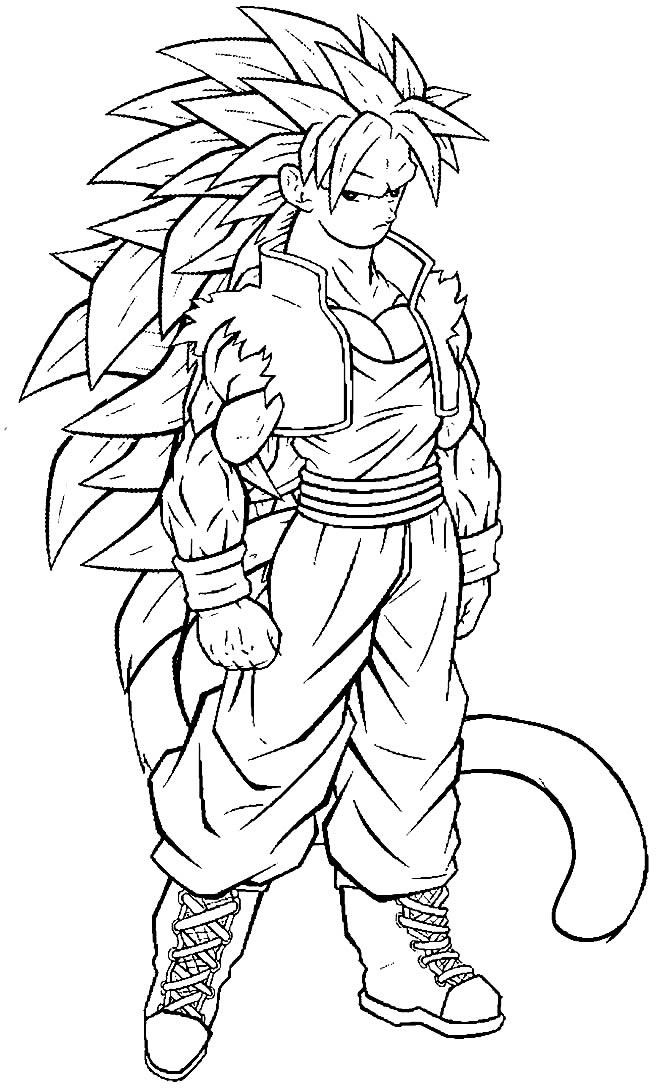 Desenho do Goku para colorir