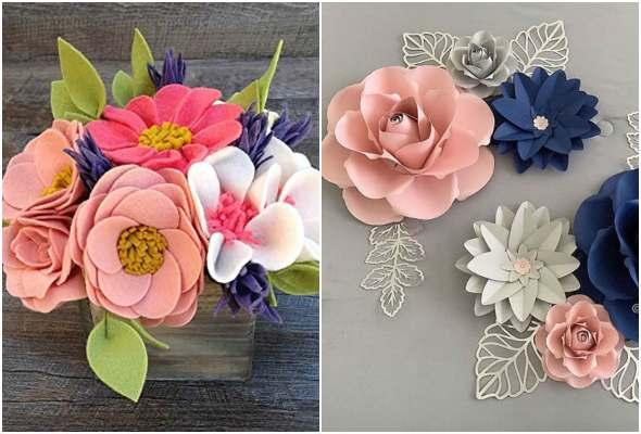 Moldes para fazer flores de papel