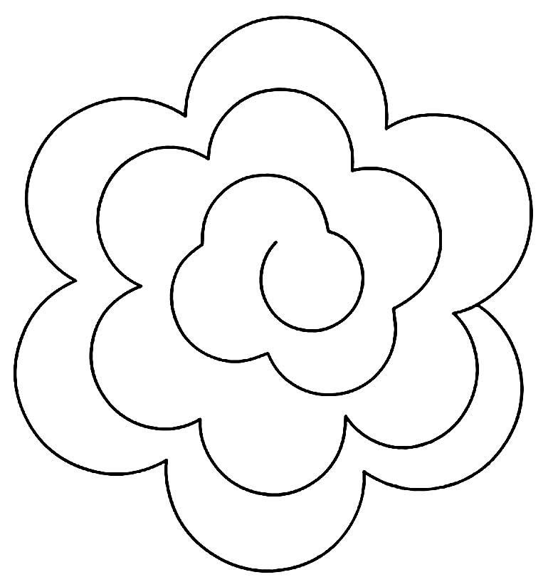 Molde em espiral de flor
