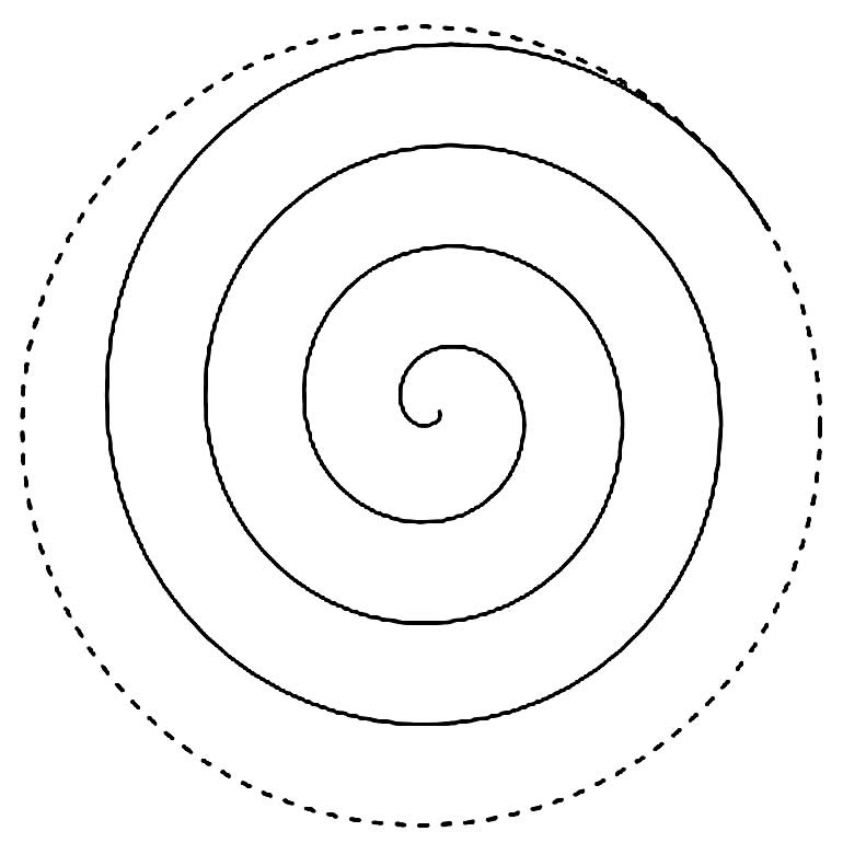 Molde para fazer flor em espiral
