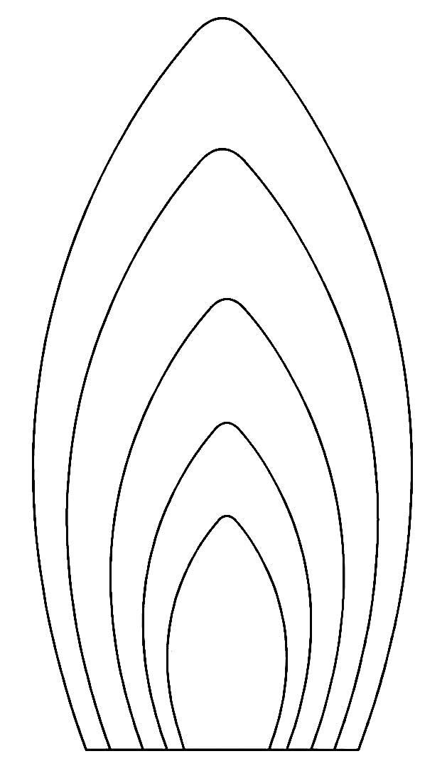 Moldes de pétalas de flor
