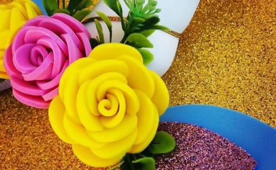 Flor de EVA para decoração