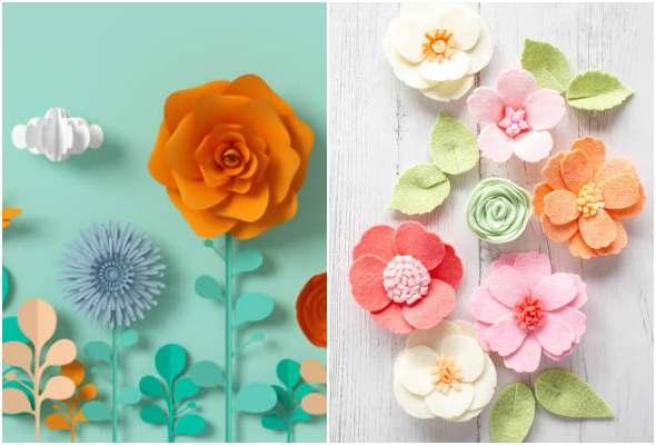 Moldes para fazer pétalas de flores