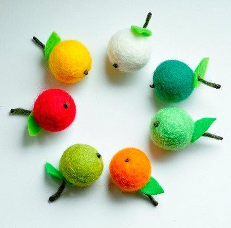 frutas com feltragem
