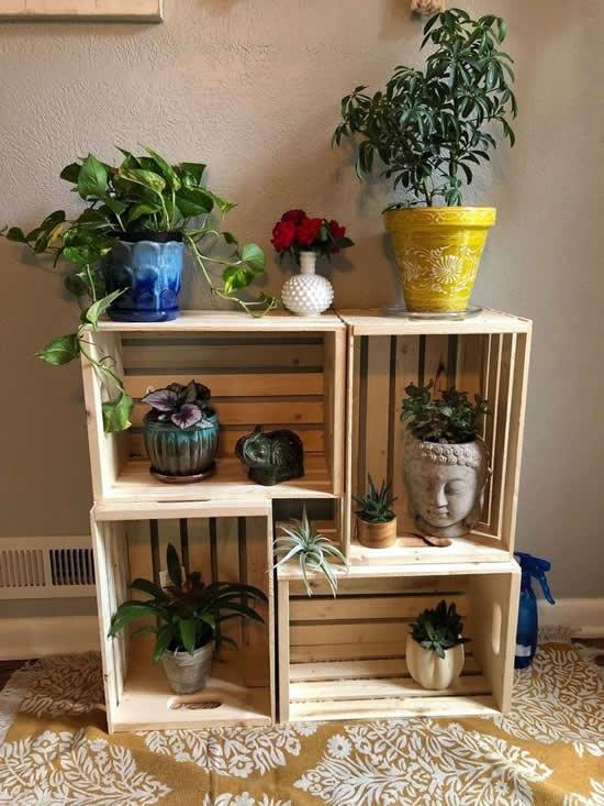 Lindos caixotes de madeira
