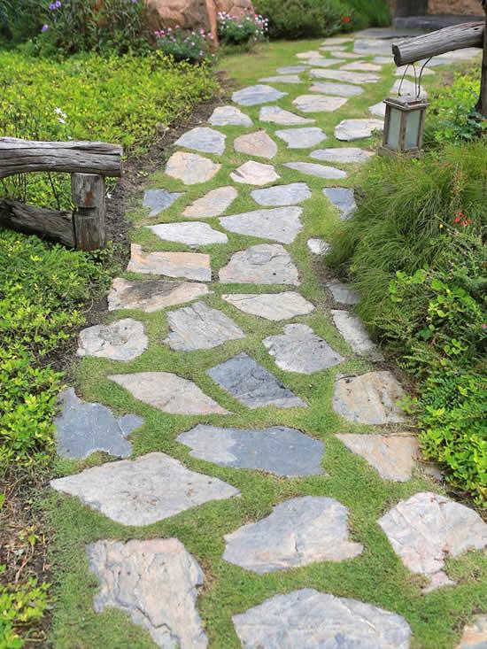 Pedras para caminhos de jardim