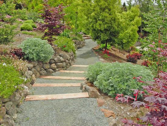 Decoração com caminhos de jardim
