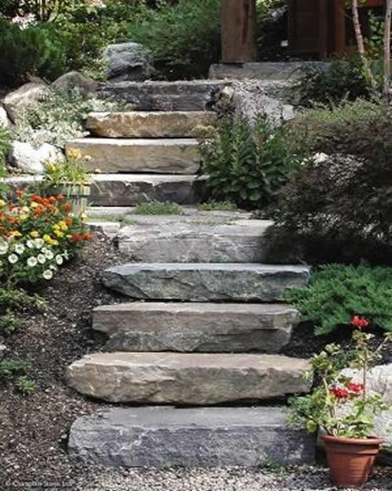 Caminho de jardim para decoração