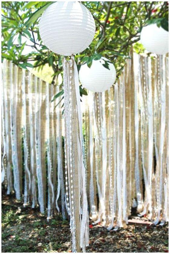 decoração de festa com lanterna de papel de arroz