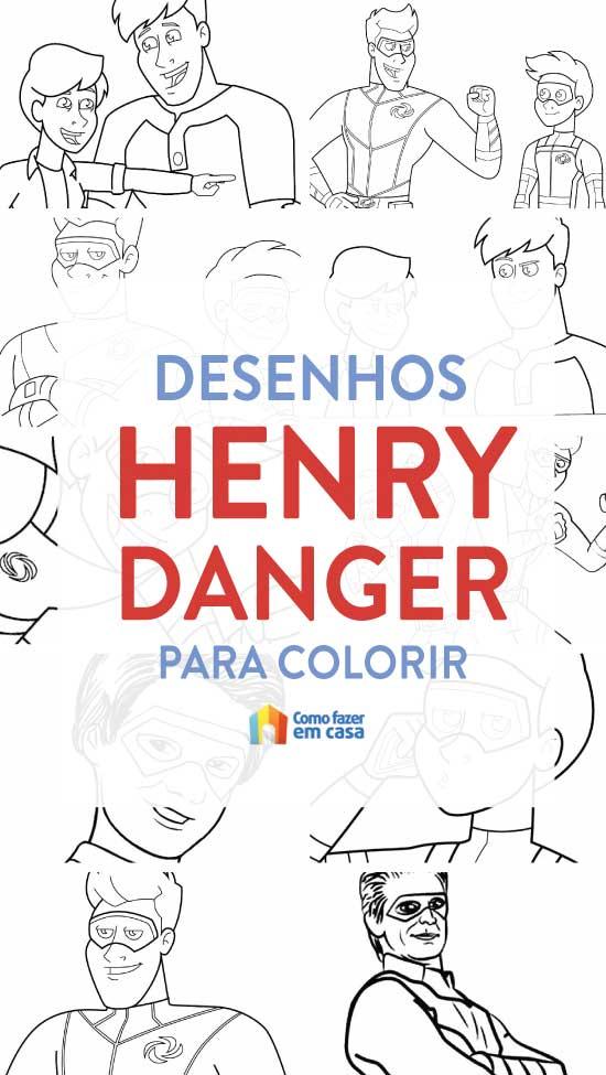 Desenhos de Henry Danger para imprimir e colorir