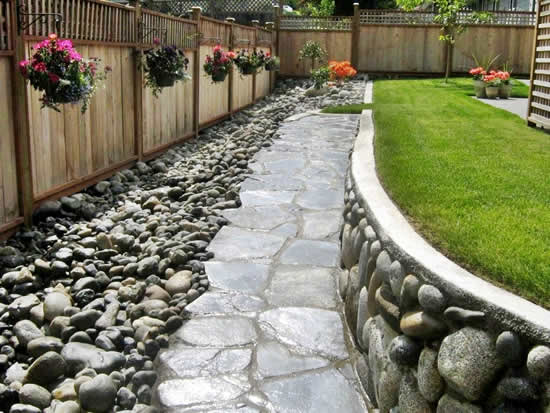 Ideias com seixos para o jardim