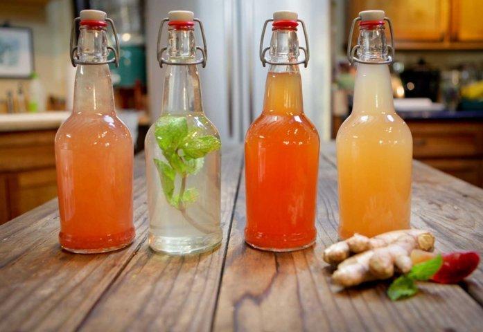 garrafas de kefir