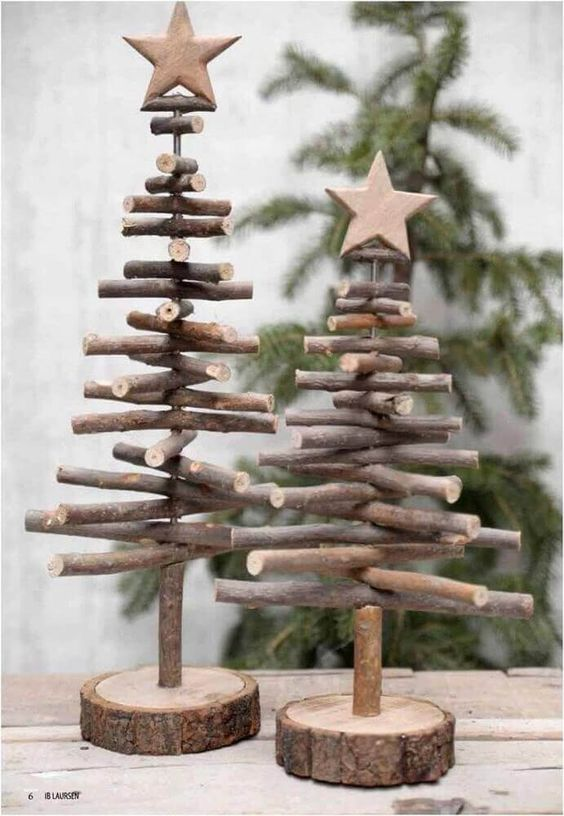 decoração de natal co gravetos