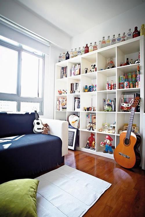 Decoração com coleção de garrafas para a casa
