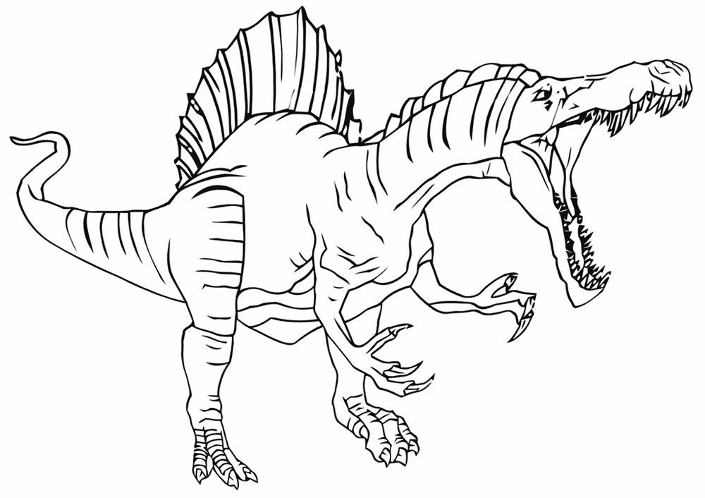 Desenho de Dinossauro para colorir