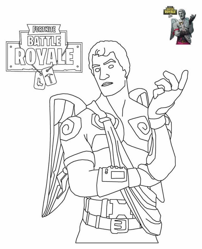 Desenho para pintar de Fortnite