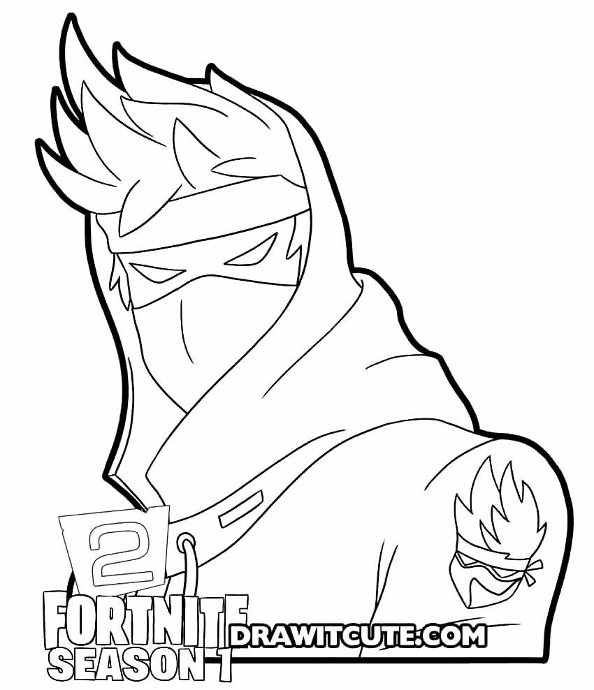 Desenho de Fortnite para imprimir e colorir