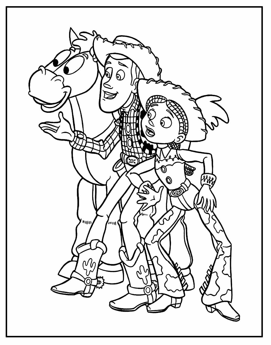 Desenho do Toy Story para colorir