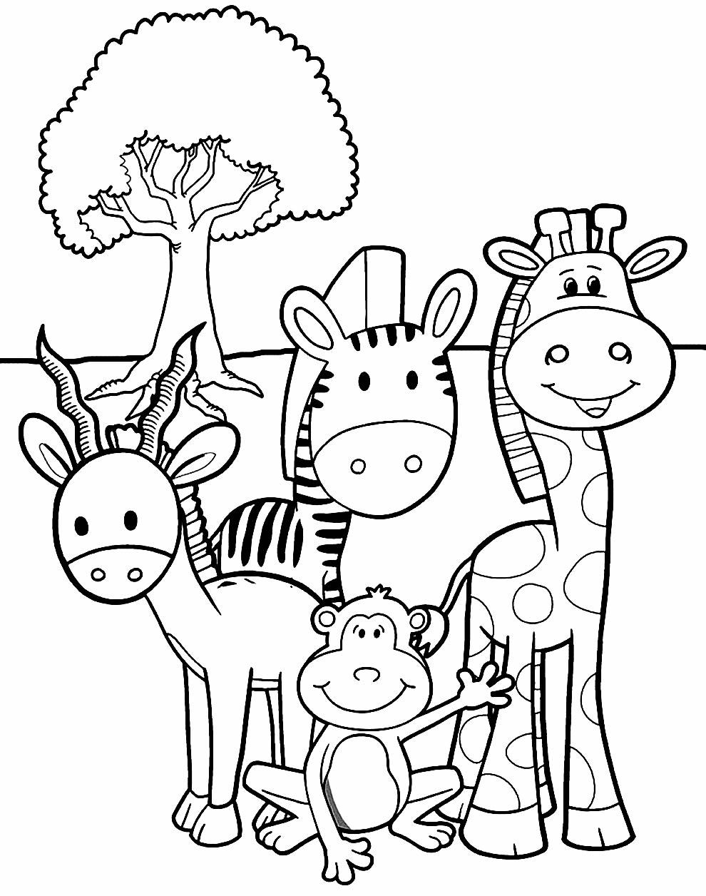 Desenhos para pintar de bichos