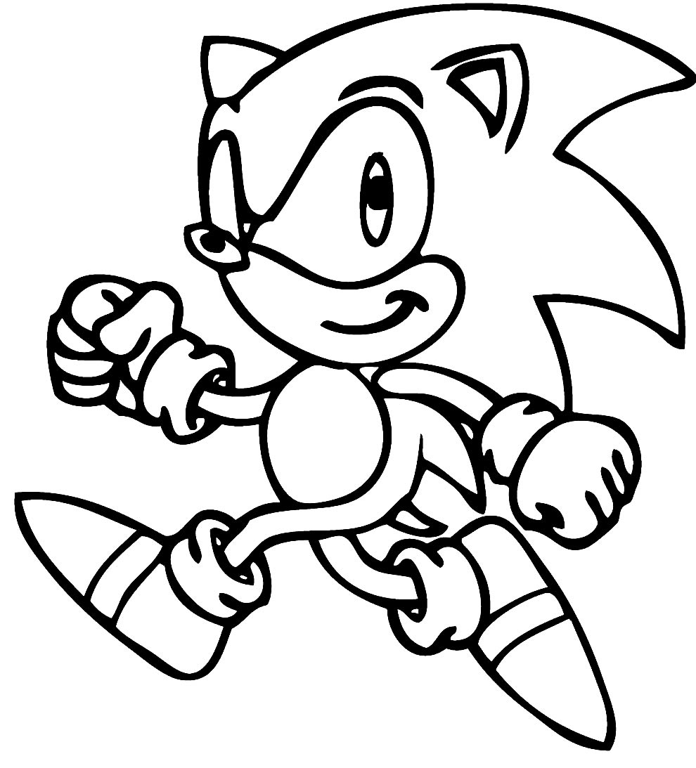 Desenho de Sonic para pintar