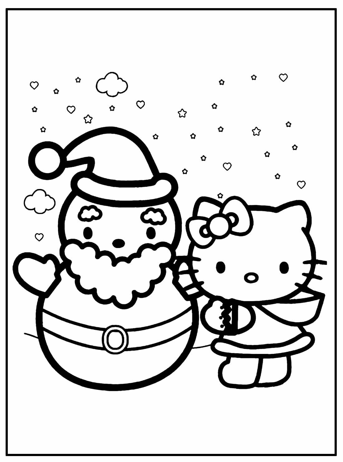 Páginas para colorir de natal