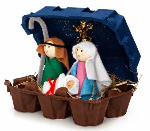 Presépios de Natal reciclados