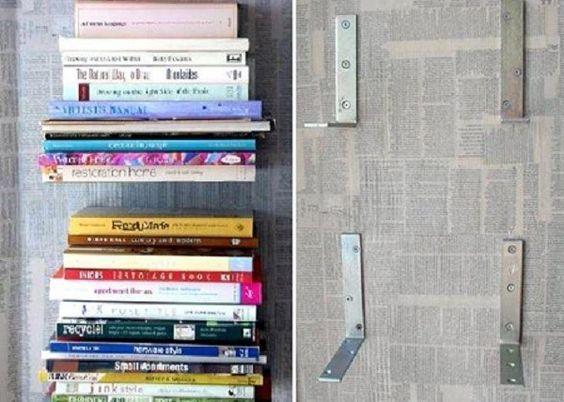Estante de livros flutuante