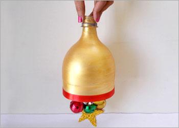 sino de Natal com garrafa pet