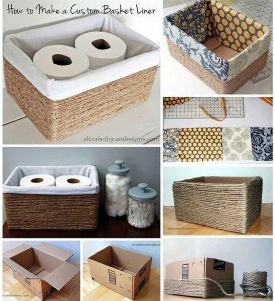 caixa com sisal