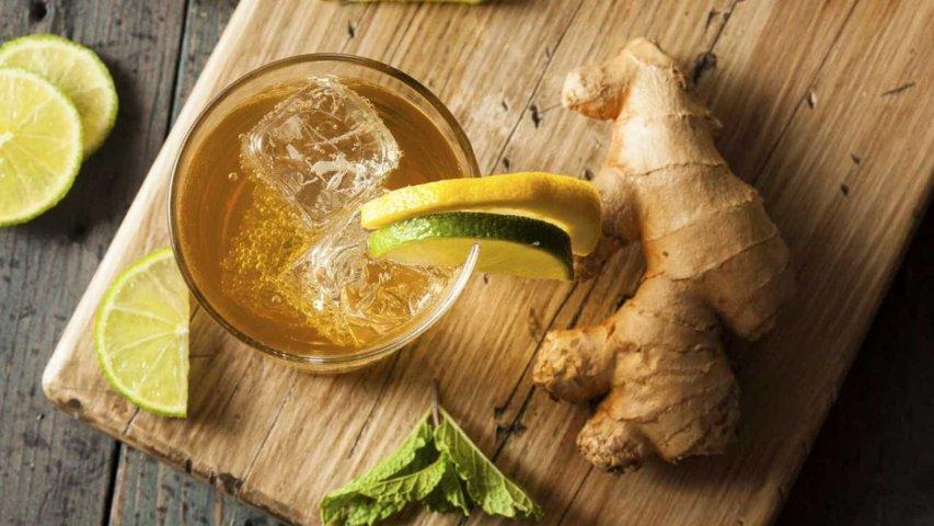 chá de abacaxi com gengibre