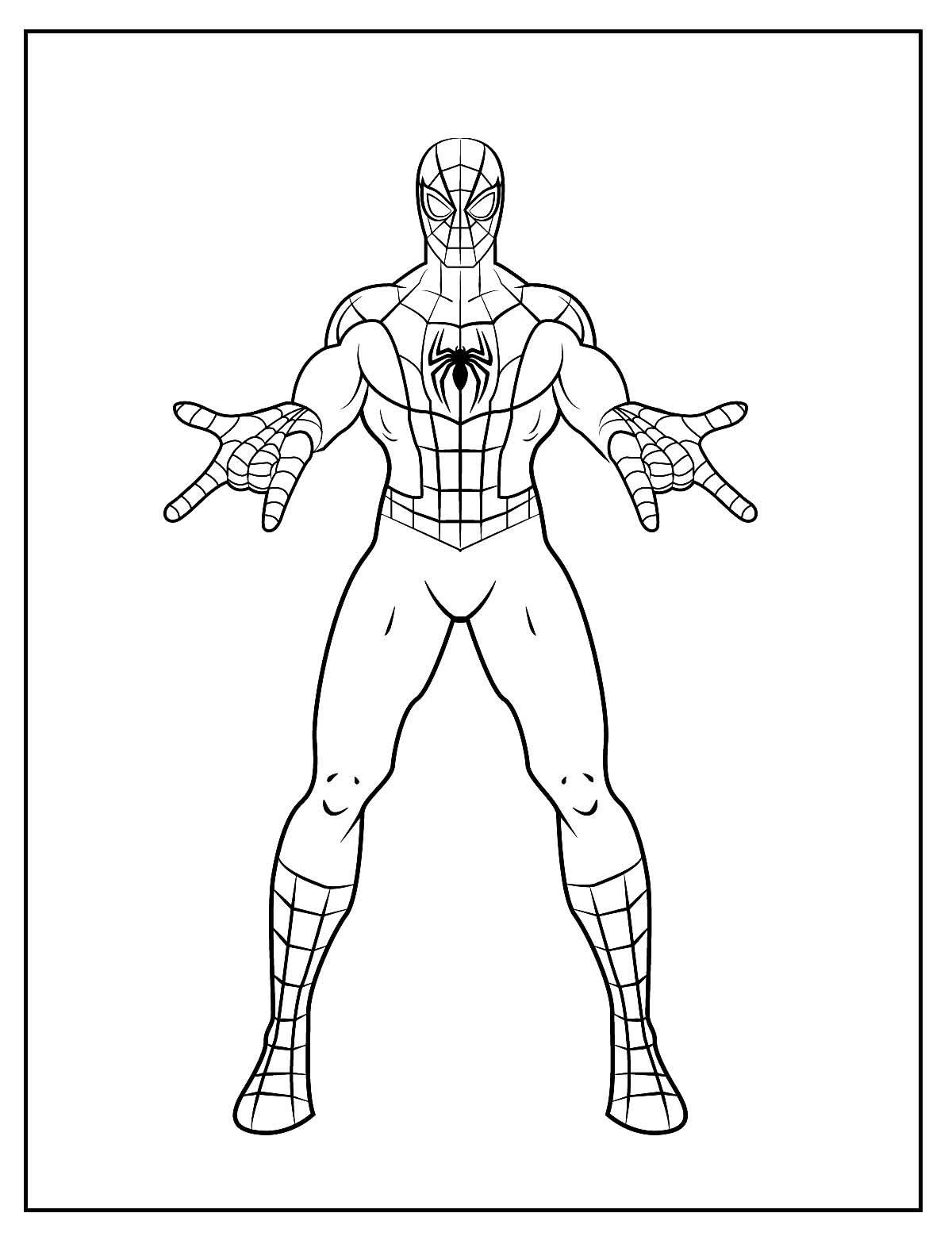 Páginas para colorir do Homem-Aranha