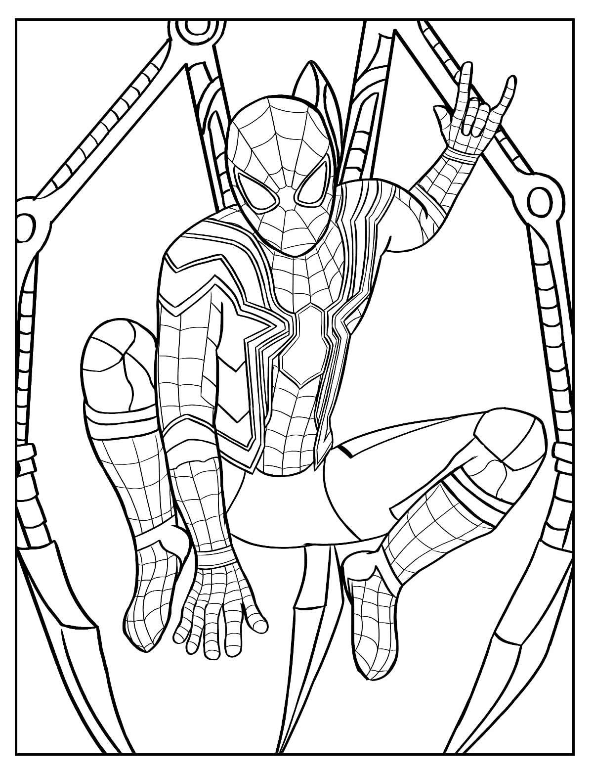 Desenho para colorir e pintar o Homem-Aranha