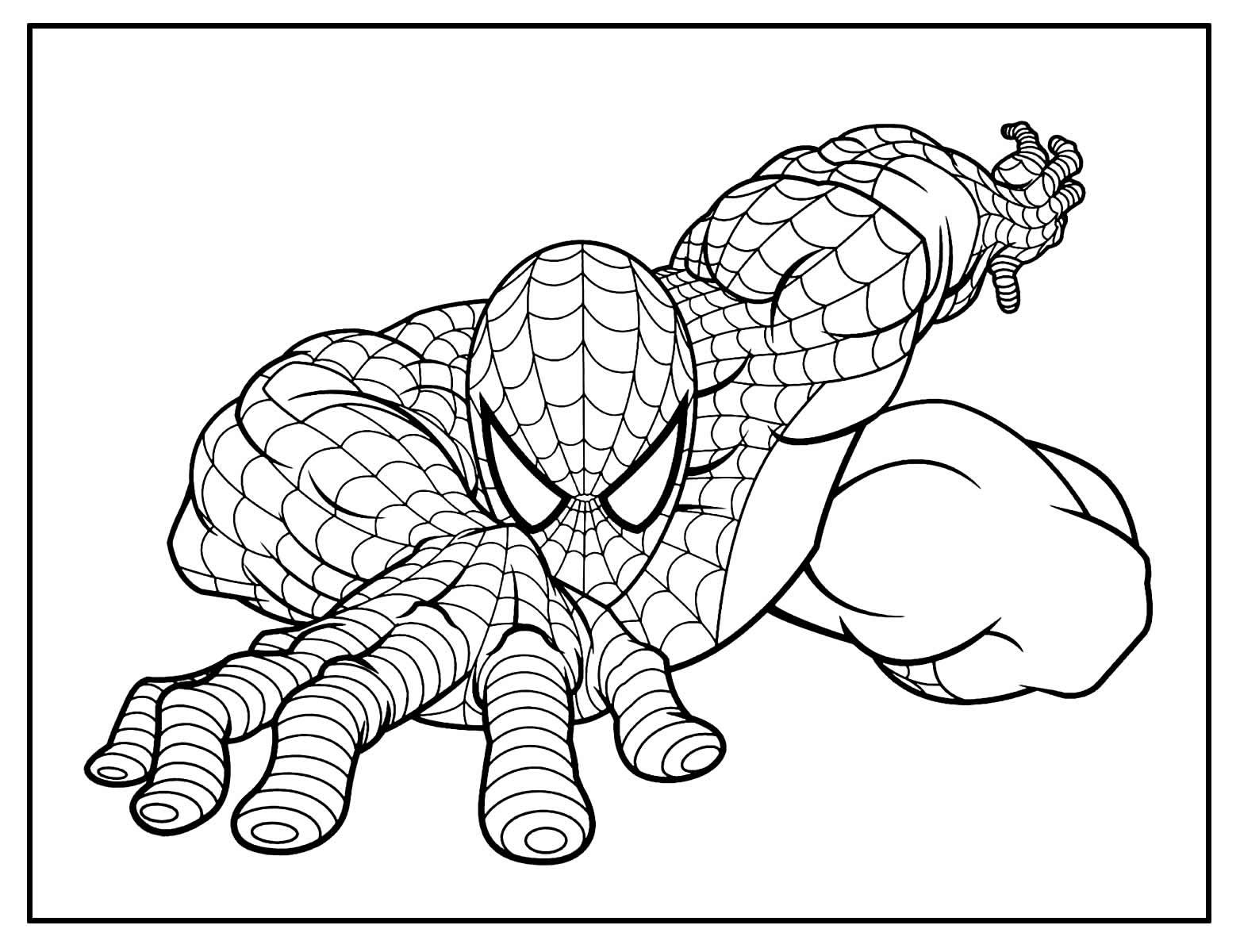 Página para colorir do Homem-Aranha