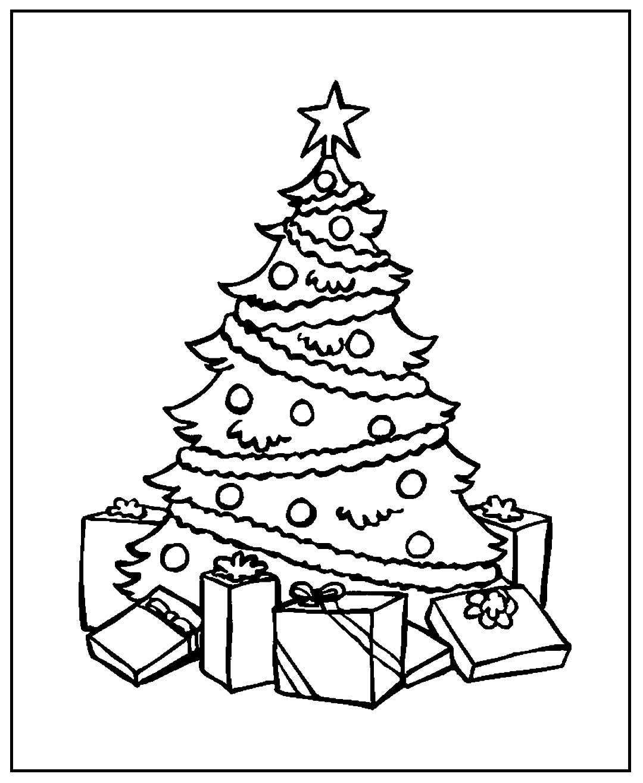 Desenho para colorir Árvore de Natal