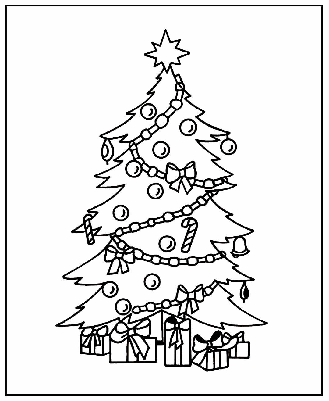 Página para colorir Árvore de Natal