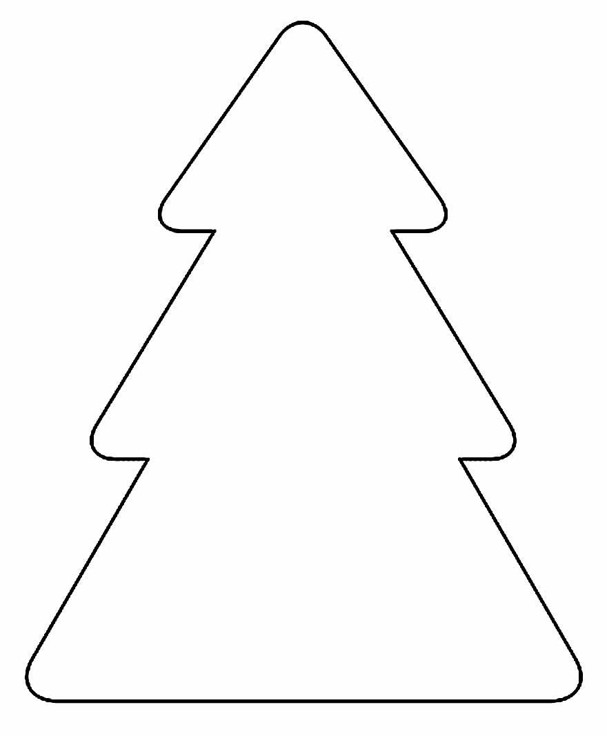 Molde de Árvore de Natal para Artesanatos