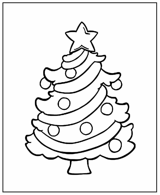 Desenhos de Árvore de Natal para colorir