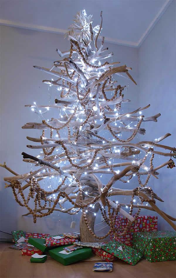 Árvore de Natal linda e criativa