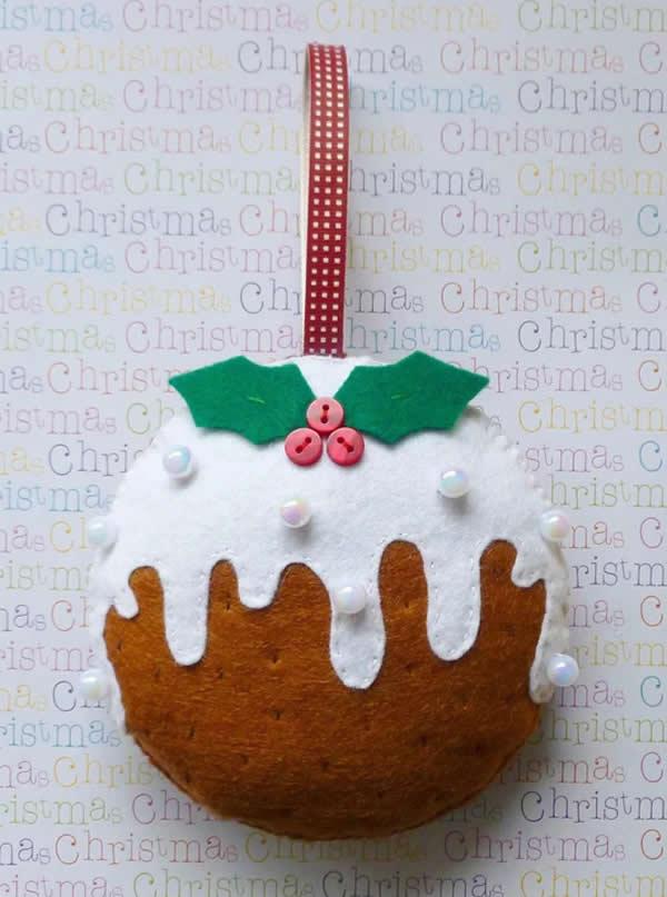 Decoração de Natal com feltro