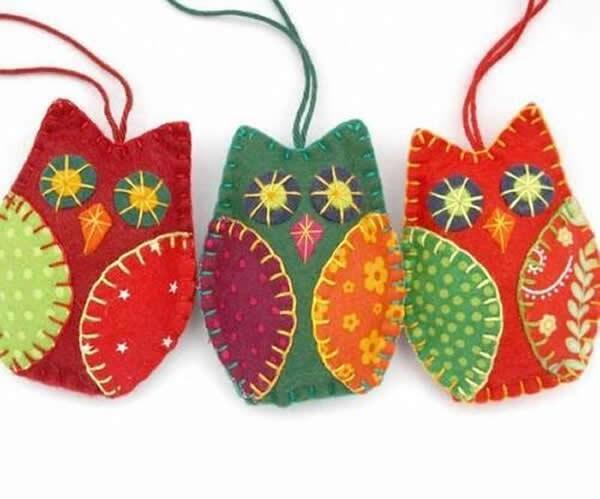 Decoração para Natal com feltro