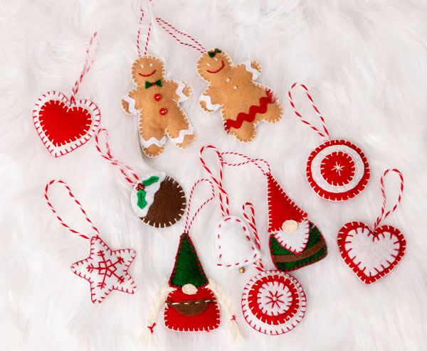 Decoração de feltro para Natal