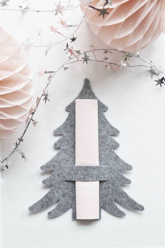 porta guardanapos para o natal