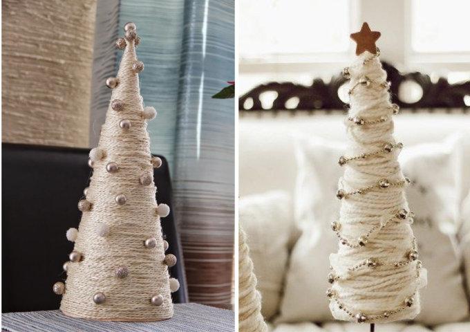 Árvore de Natal de barbante