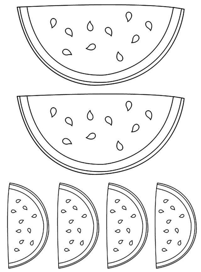 desenho de melancia para colorir