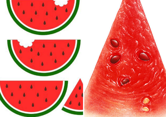 moldes de melancia