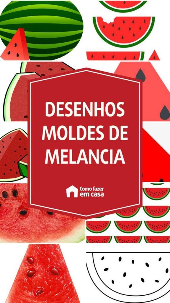 Desenhos e moldes de melancia