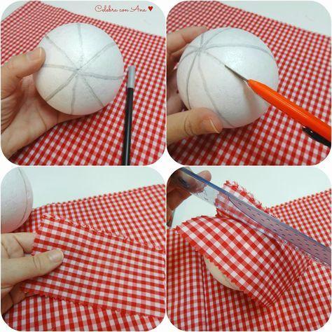 Como inserir tecido nos vincos da bola de nata