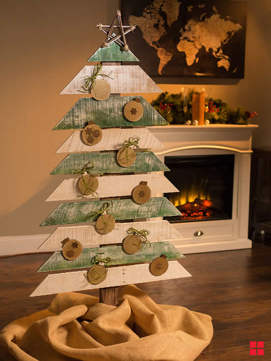 Veja lindas Linda Árvores de Natal com pallets